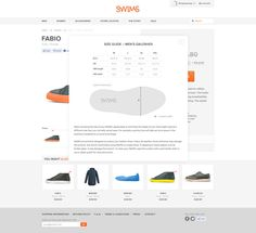 Swims website by Martin Klausen, via Behance