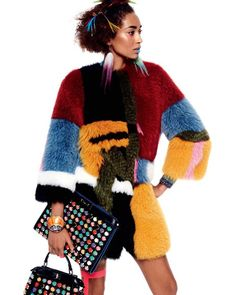 """""""A #FendiResort16 look spotted in this colorful sneak peek from @voguejapan's February issue."""""""