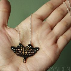 Beadwoven Butterfly Necklace
