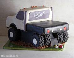 Flatbed Truck Groom's Cake