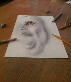 Dibujos tridimensionales a lápiz 10