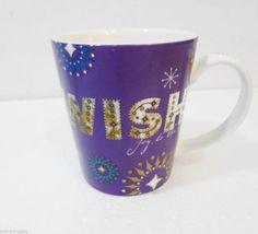 Starbucks Holiday 2006 Purple Wish Joy to the World Snowflakes Coffee Mug 14 oz  #Starbucks