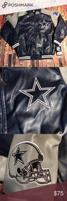 NEW nfl shop Dallas cowboys jacket (L) Brand new men's Dallas cowboys jacket with tags. Was bought at the NFL shop and never worn. New with tags. NFL Jackets & Coats Bomber & Varsity