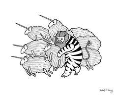 On why this variation of baby angora unicorns went extinct  Art Print