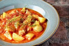Smoky Salmon Stew with Tomato, Potato, and Fennel
