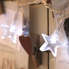 White Star Fairy Lights by Lights4fun - great for bedroom noticeboards.