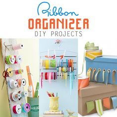 Ribbon Organizer DIY Projects - The Cottage Market