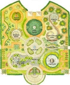"Children's Garden at Huntington Botanical Gardens, San Marino, CA includes: Rainbow Room, Topiary Volcano AND a ""Self-Centered Globe"" ha-ha!"