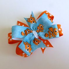 Nemo Double Layer Hair Clip by SweetMamaJs on Etsy, $3.50