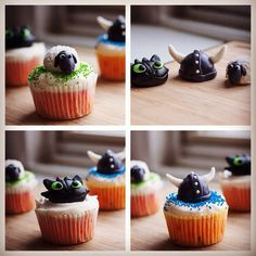 Handcrafted How to Train Your Dragon 2 cupcakes!
