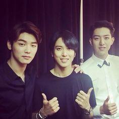 Minhyuk, Yonghwa and Jungshin