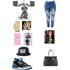 I don't love no thot ,thot is a girl that bang bang every body in the squaad by justicewilson10 on Polyvore featuring polyvore, fashion, style, Furla and Breda