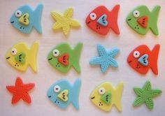 Tropical Fish Fondant Cupcake Toppers