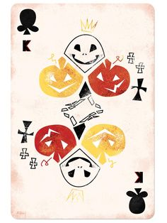 Disney-Inspired Playing Cards: inspired by Jack Skellington