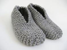 Pantoufle facile au tricot du blog a.n.i.m.é