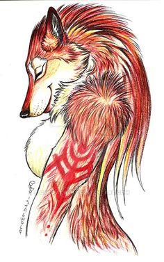 Merle - The Red Werewolf by Cristalwolf.deviantart.com on @DeviantArt