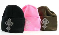 The Rustic Shop - Rhinestone Cross Winter Beanie Cap, $19.99 rhinestone-cross-winter-beanie-cap