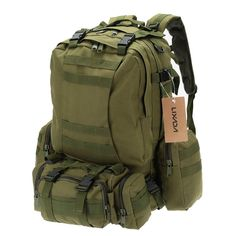 50L Outdoor Military Molle Tactical Backpack Rucksack Hiking Camping W – 10MINUS