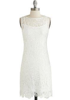 this would be pretty for the bridal shower - A Sweet Aperitif Dress in Crème, #ModCloth
