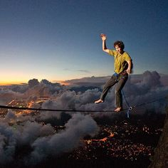 Renan Ozturk, the editor and The North Face athlete, slacklining in Brazil