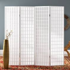 Sali 4 Panel Room Divider World Menagerie Anzahl der Paneele: 4 Paneelen Mystery Room, Marble Room, Living Room Decor, Bedroom Decor, Living Area, Decorative Room Dividers, Butterfly Room, 4 Panel Room Divider, Home Additions
