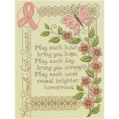 Brighter Tomorrow Counted Cross Stitch Kit- so pretty! Would look great framed or on a pillow!
