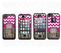 Monogrammed iPhone 4 4S iPhone 5 5S LifeProof Skin by GroovyCases