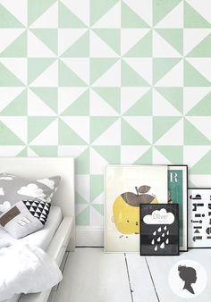 Self Adhesive Geometric Pattern Removable Wallpaper door Livettes