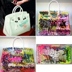 hermes paris handbags - 1000+ images about painted handbags on Pinterest | Monogram Canvas ...