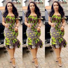 Most stylish collection of ankara short gown styles of 2019 trending today, try these short ankara gown styles African Fashion Ankara, Latest African Fashion Dresses, African Dresses For Women, African Print Dresses, African Print Fashion, African Attire, Ankara Short Gown Styles, Short Gowns, Ankara Skirt And Blouse