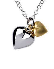 jewellery: Silver and Gold Plated Double Heart Necklace! Double Heart Necklace, Jewelry Necklaces, Jewellery, Valentine Day Gifts, Pendant Necklace, Earrings, Silver, Gold, Ear Rings