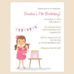 Love These Customized Invites Requesting A Teddy Bear Instead Of Doll And Have The Girl
