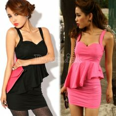 $ 7.84 Elegant Women's Ladies Sexy flouncing Backless Strap Dress 2 Colors