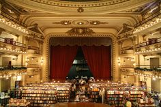 Bookstore in Argentina - This is a huge bookstore and it used to be a theatre.