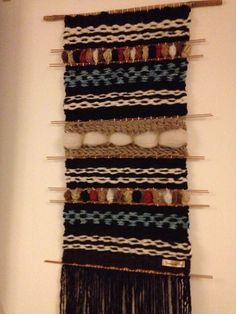 Hand Made Woven Wall Hanging Tapestry by WovenHomeArt on Etsy, $420.00