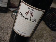 Menage a Trois Red Wine// I'll definitely need some of this when I get home. Super loooooong day.
