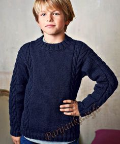 Bergère de France is the leading French wool manufacturer. Buy your knitting wools, patterns and all accessories online. Boys Knitting Patterns Free, Knitting For Kids, Knit Patterns, Baby Knitting, Sweater Patterns, Knitting Projects, Cable Sweater, Men Sweater, Pull Torsadé