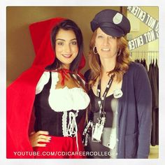 CDI College Calgary South Campus Students on the Halloween Day - Snow White and Police Woman #CDICollege #college #collegelife #Calgary #campus #Alberta #AB #students #costumes #snowwhite #snow #white #police #woman #costumes #Halloween #South #CalgarySouth