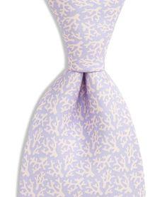 Coral Pink & Lavender Tie