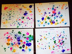American Artist Sam Francis inspired our Fresh Air Painting lesson!