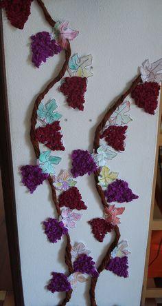 druiven Autumn Activities, Craft Activities For Kids, Crafts For Kids, Arts And Crafts, Diy Crafts, Autumn Crafts, Autumn Art, Autumn Theme, Fruit Crafts