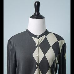 W BY WORTH Gray Cream Long Sleeve Silk Cardigan M W BY WORTH Silver Gray Cream Long Sleeve 100% Silk Button Up Cardigan Size Medium W BY WORTH Sweaters Cardigans