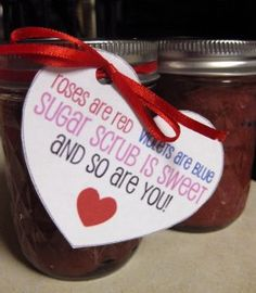 Valentine's Challenge - Like making homemade sugar scrub? Great (and frugal) way to give a sweet gift this Valentine's Day or  to pamper yourself!