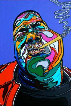 Arte Hip Hop, Hip Hop Art, Watercolor Portrait Tutorial, 90s Art, Music Illustration, Joker Art, Black Artwork, Hip Hop Fashion, Psychedelic Art
