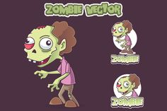 Green Zombie Vector by pecellele pencil on Creative Market