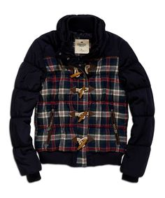 Navy & Red Plaid Puffer Jacket | Daily deals for moms, babies and kids