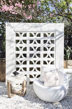 Outdoor Rooms, Outdoor Living, Outdoor Furniture, Breeze Block Wall, Three Birds Renovations, Garden Design, House Design, Patio Design, Reclaimed Timber