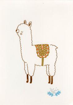 #ilustration #Alpaca #llama