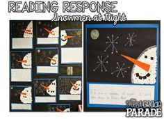 After reading Snowmen at Night, prompt your students to create their very own tear paper snowmen and write about what they would do if they were snowmen at night!