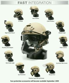 FAST Helmet integration (:Tap The LINK NOW:) We provide the best essential unique equipment and gear for active duty American patriotic military branches, well strategic selected.We love tactical American gear Tactical Helmet, Airsoft Helmet, Military Gear, Military Equipment, Tactical Survival, Survival Gear, Armas Airsoft, Fast Helmet, Tac Gear